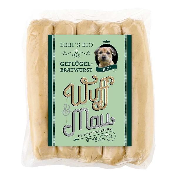 Bio Geflügelbratwurst für Hunde
