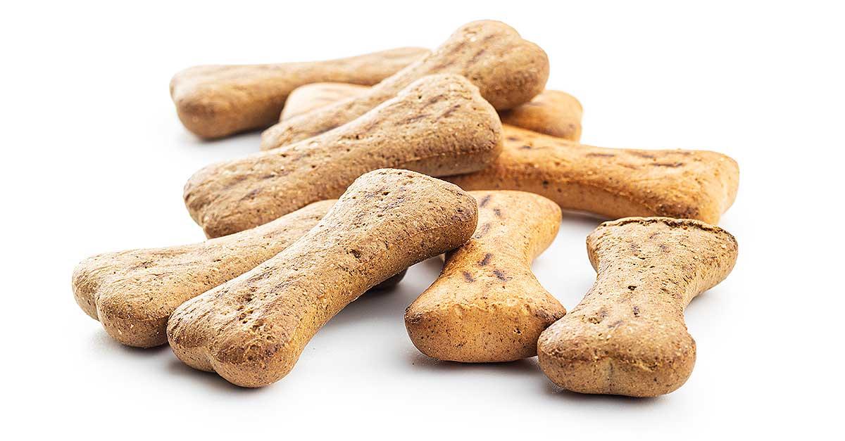 Hundekekse können auch als Knochen geformt werden